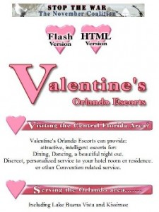 Valentine's website when I closed in September of 2001