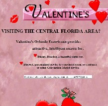 Valentine's website in 1997